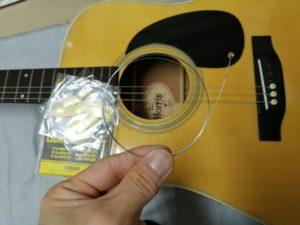 弾きやすくした貸し出し用ギター